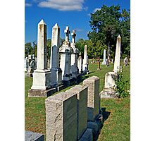 Chapel Point Gravestones Photographic Print