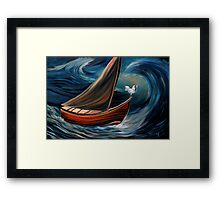 The last known voyage of captain Leghorn Framed Print