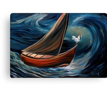 The last known voyage of captain Leghorn Canvas Print