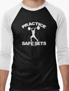 Practice Safe Sets Men's Baseball ¾ T-Shirt