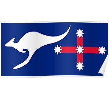 New Australian Flag Design - AFL1 Poster