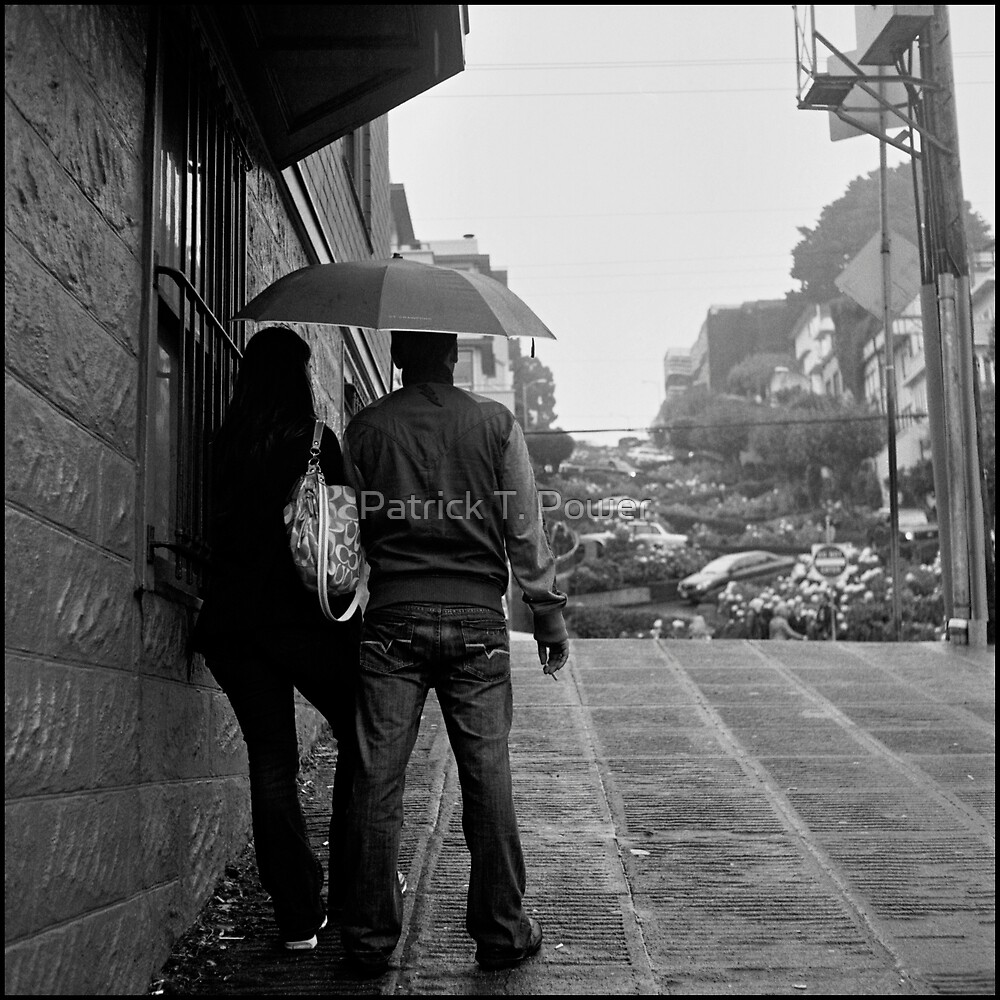 Lombard Street Rainy Day #1 by Patrick T. Power