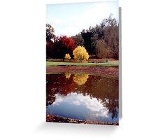 Claret & Golden Ash  - H Hulme Greeting Card