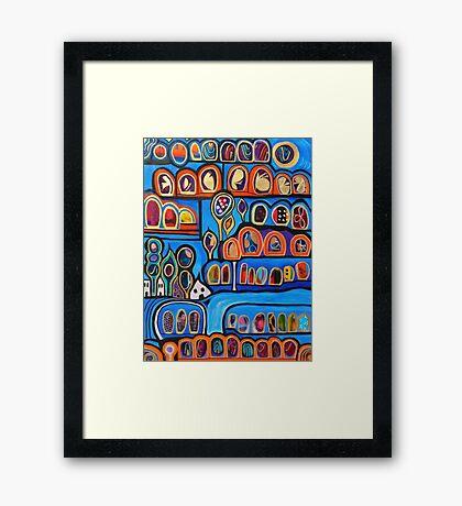 Ribbon Town Framed Print