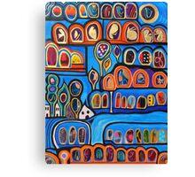 Ribbon Town Canvas Print
