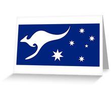 New Australian Flag Design AFL3 Greeting Card