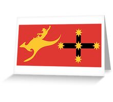 New Australian Flag Design AFL6 Greeting Card