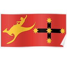 New Australian Flag Design AFL6 Poster