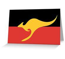 New Australian Flag Design AFL7 Greeting Card