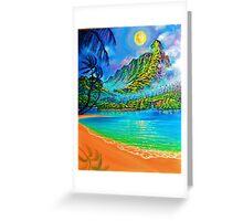 Moonlit Lagoon wip 3 Greeting Card