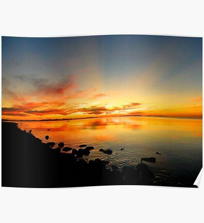 Sunset at Salt Lake Poster