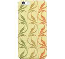 art deco, art nouveau.orange, chic, elegant, girly, green, modern, patterm, red, retro, trendy, vintage, yellow,feather,floral iPhone Case/Skin
