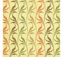 art deco, art nouveau.orange, chic, elegant, girly, green, modern, patterm, red, retro, trendy, vintage, yellow,feather,floral Photographic Print