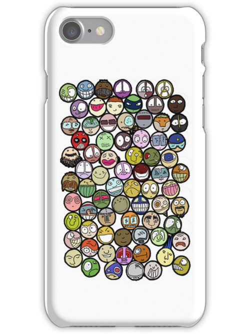 72 Faces iPhone cover by MuscularTeeth