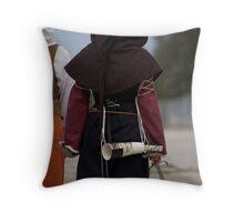 The Dagger Woman Throw Pillow