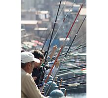 Fishing in town Photographic Print