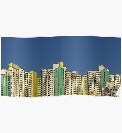 Buildings, Kowloon, Hong Kong Poster