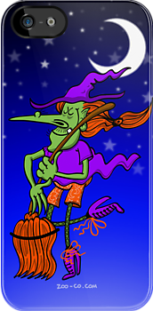 Crazy Witch Dancing with her Broomstick by Zoo-co
