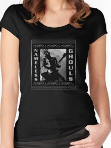 NAMELESS GHOULS PLACARD Women's Fitted Scoop T-Shirt