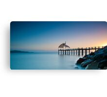 A New Dawn at the Strand Jetty Canvas Print