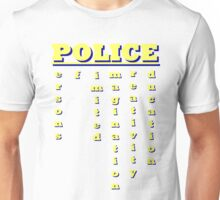 Police entry requirements. Unisex T-Shirt