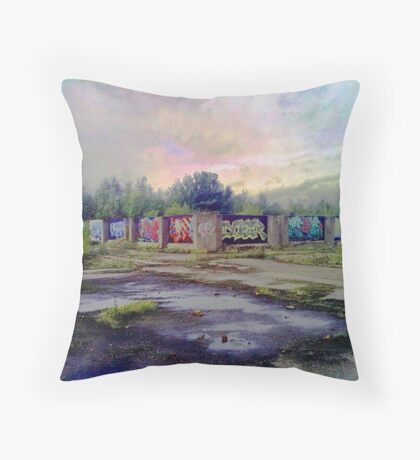 Industrial Temple Throw Pillow
