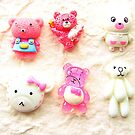 Kawaii Cabochons 6 Bears DecoSweets Pack 2  by souzoucreations