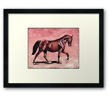 Walking with Purpose II ( horse portrait oil painting) Framed Print