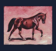 Walking with Purpose II ( horse portrait oil painting) One Piece - Long Sleeve