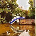 Boat in the Moat - MiddelheimCastle - Belgium by Gilberte