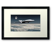 Space Transport Framed Print