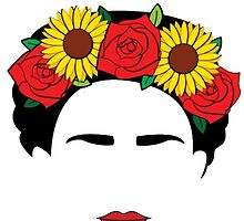 Frida Khalo Sticker by blackwatermelon