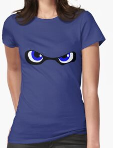 Squid Kid Eyes - Blue Womens Fitted T-Shirt