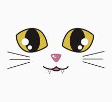Kawaii Kitty Face One Piece - Short Sleeve