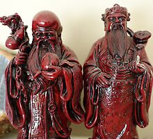 Long live old men status. Chinese folk art. by naturematters
