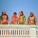 Traditional sisters at Gujarati Festival by Sarah Jane Bingham