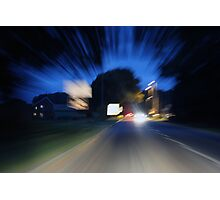 Speed into the future Photographic Print