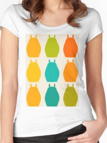 Totoro colors Women's Fitted Scoop T-Shirt