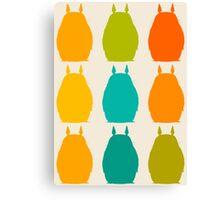 Totoro colors Canvas Print