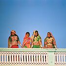 Traditional women at Gujarati Festival  by Sarah Jane Bingham