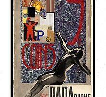 Dada Tarot- 9 of Coins by Peter Simpson