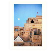 Full Moon Over Jaisalmer Art Print