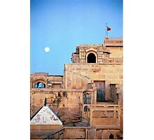 Full Moon Over Jaisalmer Photographic Print