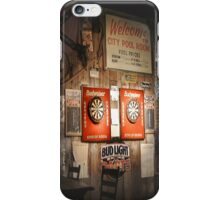 City Pool Room at Noon iPhone Case/Skin