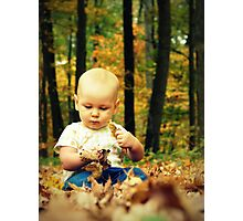 Fall Baby Photographic Print