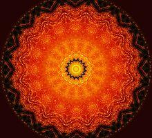 Pumpkin Tart Mandala by Virginia Sanderson