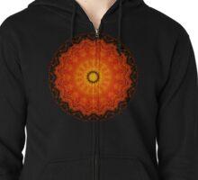 Pumpkin Tart Mandala Zipped Hoodie