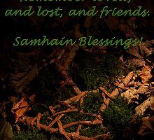 Samhain Blessings! by Desmond  Brambley
