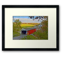 Jackson Saw Mill Covered Bridge 1878 Framed Print
