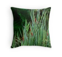 Brown Tails Throw Pillow